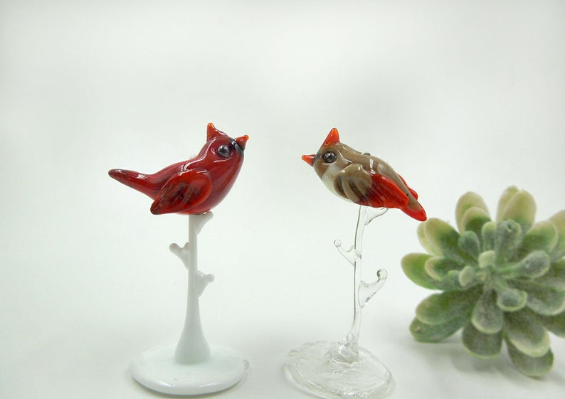 Dimensions Red Cardinal In Dogwood Crewel Embroidery Kit 11 W x 15 H