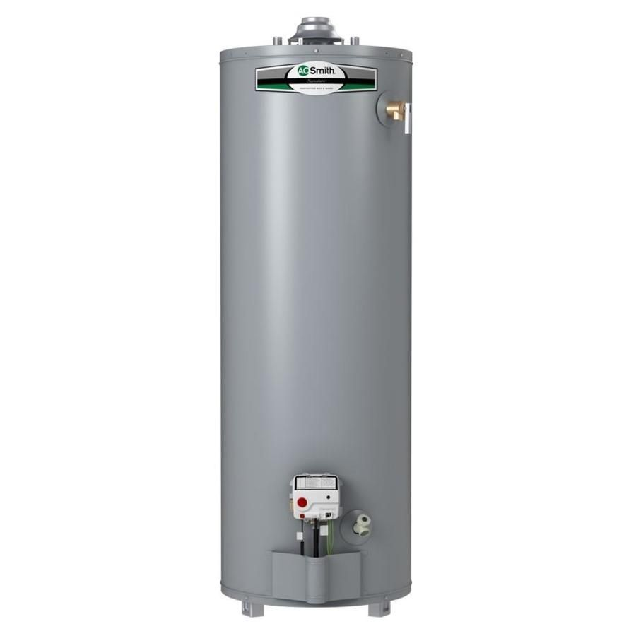 A O Smith Signature 40 Gallon Tall 6 Year Limited Liquid Propane Water Heater Natural Gas Water Heater Will Smith