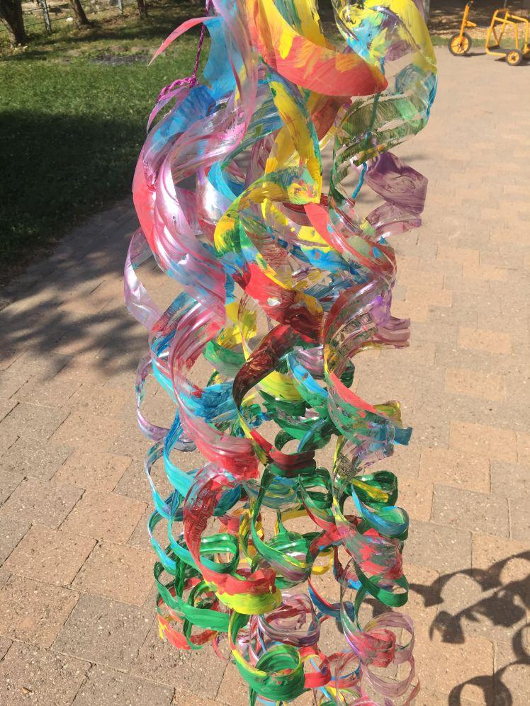 Flaschen Windspiel Kunst Pet Flaschen Basteln Kinder