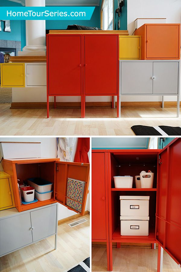 The Ikea Lixhult Cabinets Are Fun And Colorful Storage Solutions In