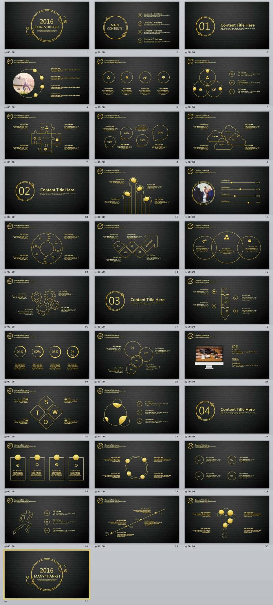 Business Report Professional Powerpoint Templates  Powerpoint