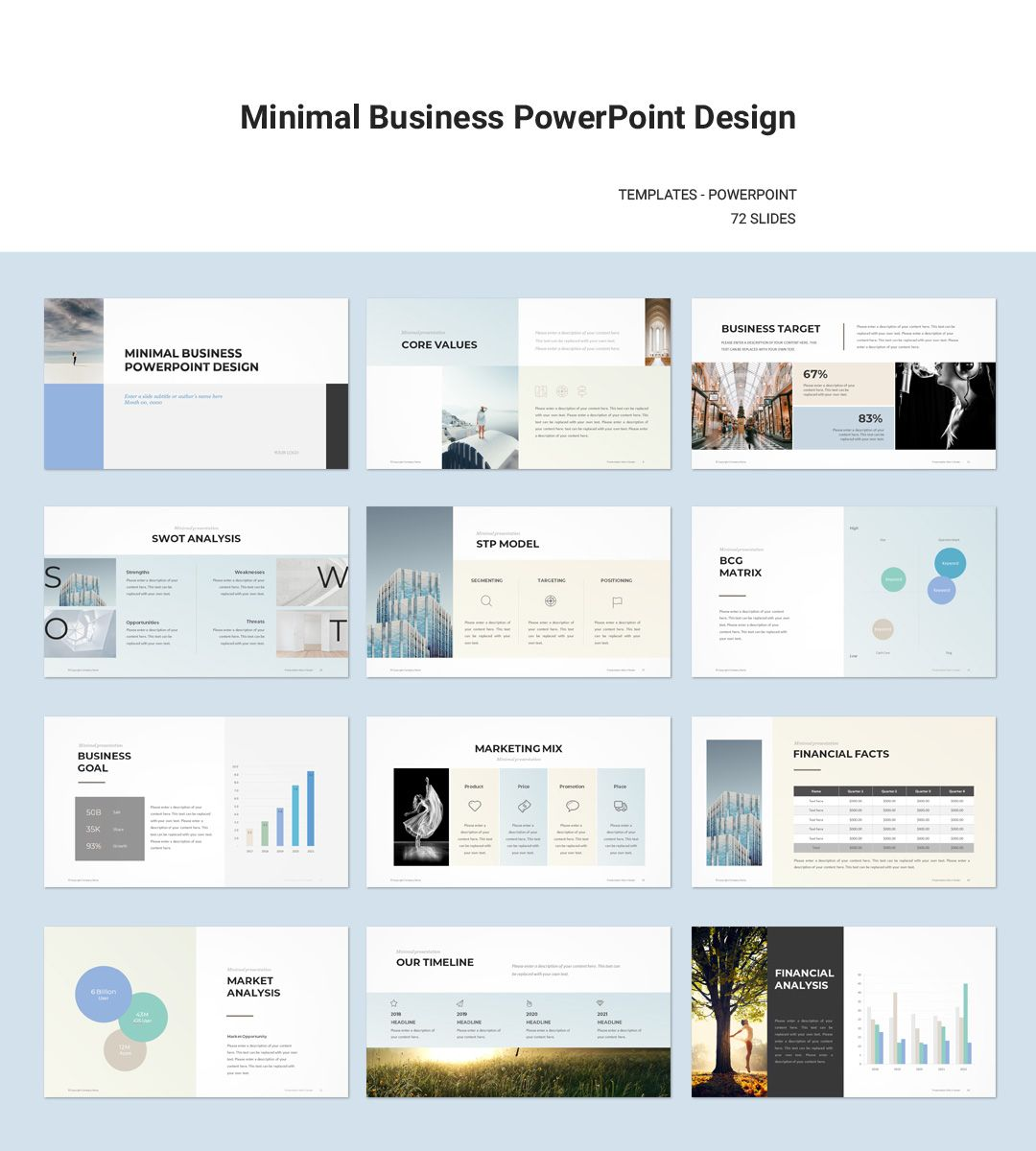 minimal business plan powerpoint template presentation powerpoint