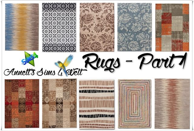 Rugs Part 1 at Annett's Sims 4 Welt via Sims 4 Updates Check more at http://sims4updates.net/objects/decor/rugs-part-1-at-annetts-sims-4-welt/