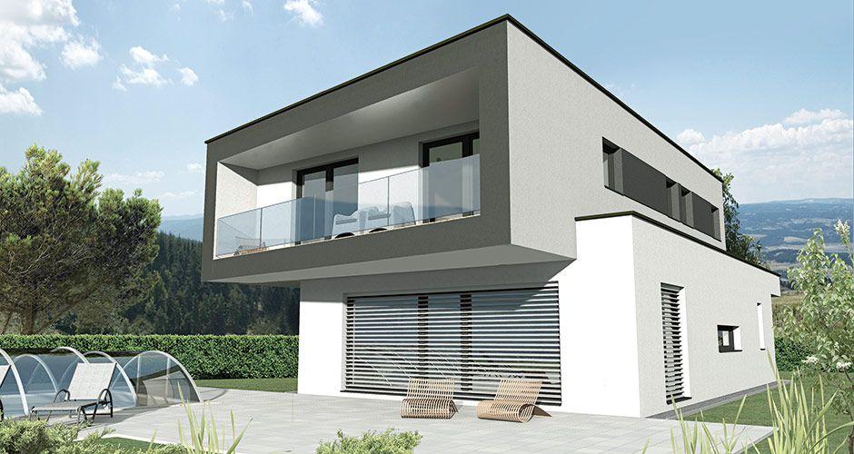 Haus mit doppelgarage flachdach  Flach 176 Das 176 m2 Malli Haus mit Flachdach | haus bauen ...
