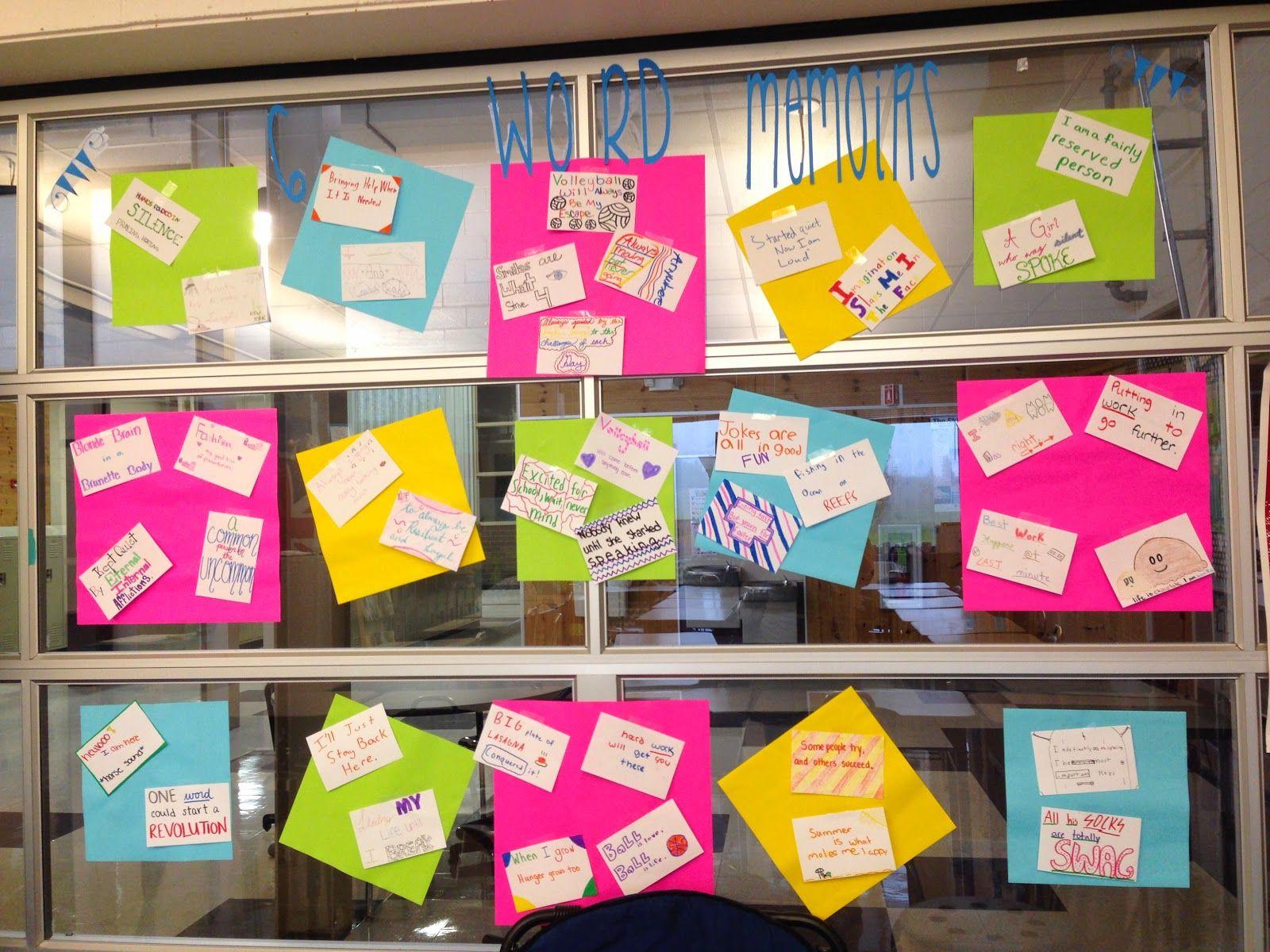 6 Word Memoirs And Genius Hour Startup Teaching Teens In The 21st