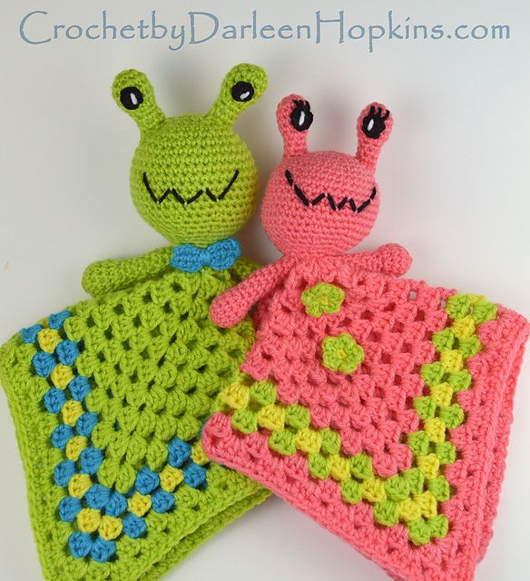Make these cute alien loveys with Lion Brand Vanna's Choice! They're out of this world!