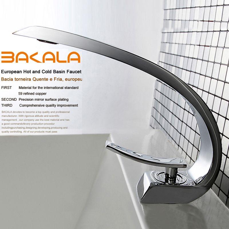 BAKALA moderne waschbecken design Bad wasserhahn mischer wasserfall ...