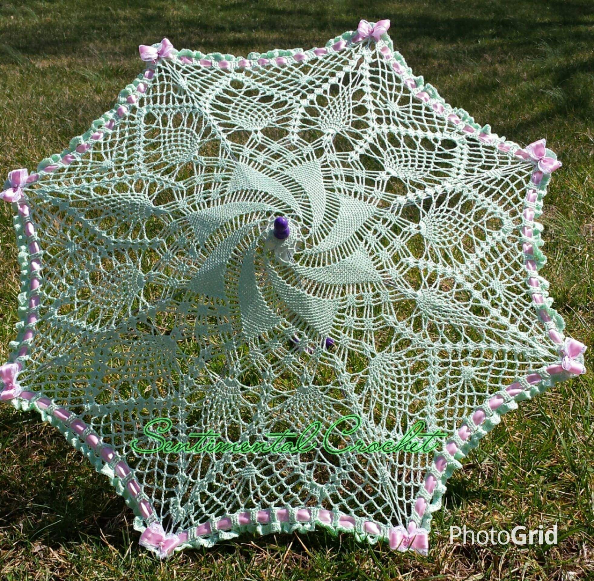 Pastel Green Lace Umbrella! Wedding Prop, Accessory, Childs or Adult