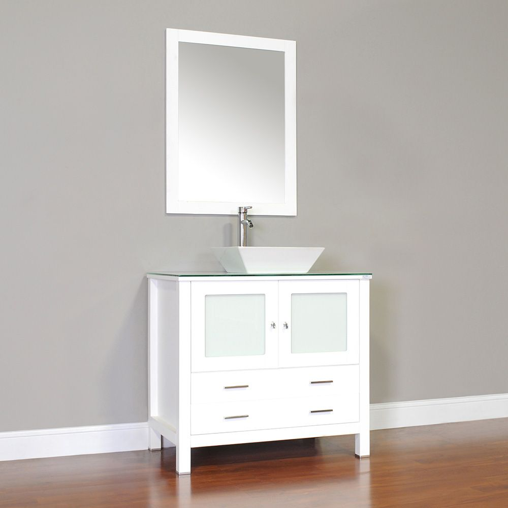 Alya Aw 125 36 W 36 Single Modern Bathroom Vanity White White Vanity Bathroom Modern Bathroom Vanity Bathroom Vanity