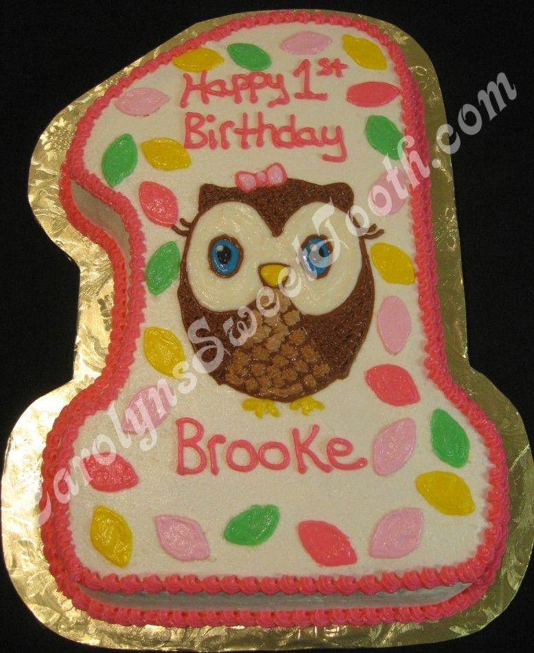 Owl First Birthday Cake 083113jpg 778950 Cake kids
