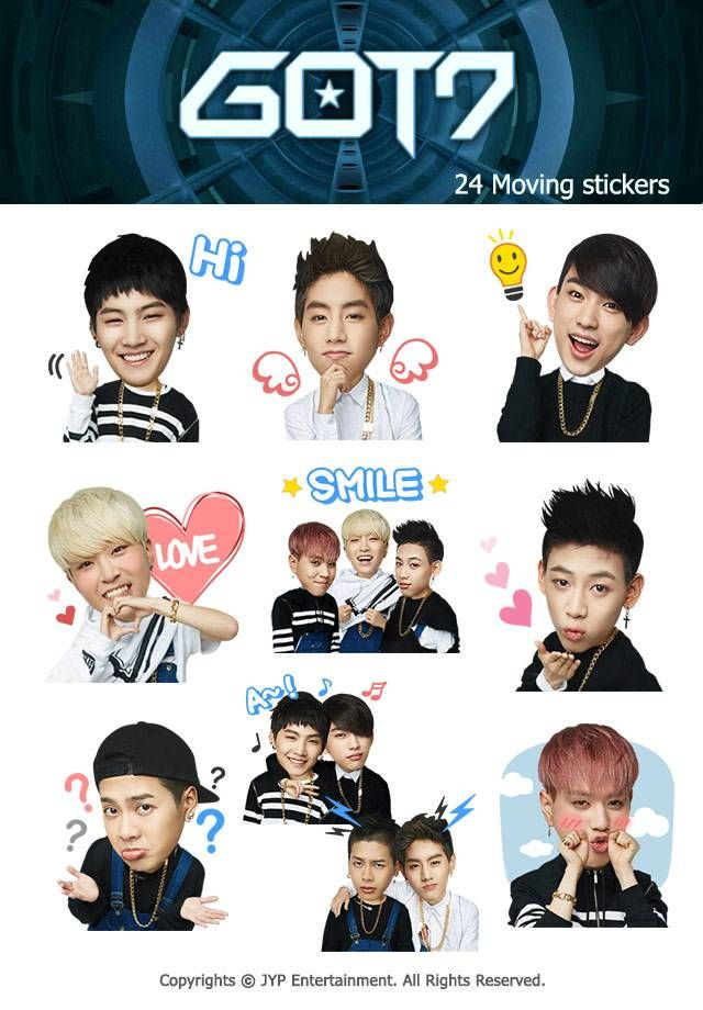 Got7 Bring Out Their Own Cute Kakaotalk Emoticon Set Got7 Emoticon Band Stickers