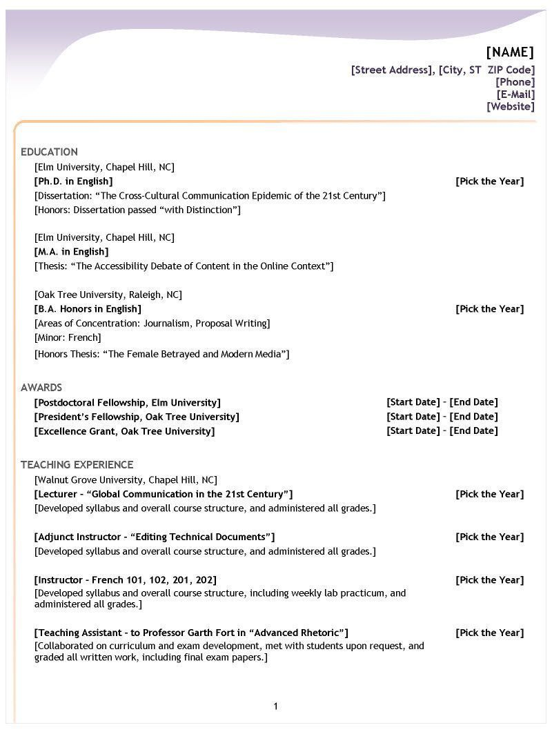 Different Types Of Resumes Proper Resume format Resume