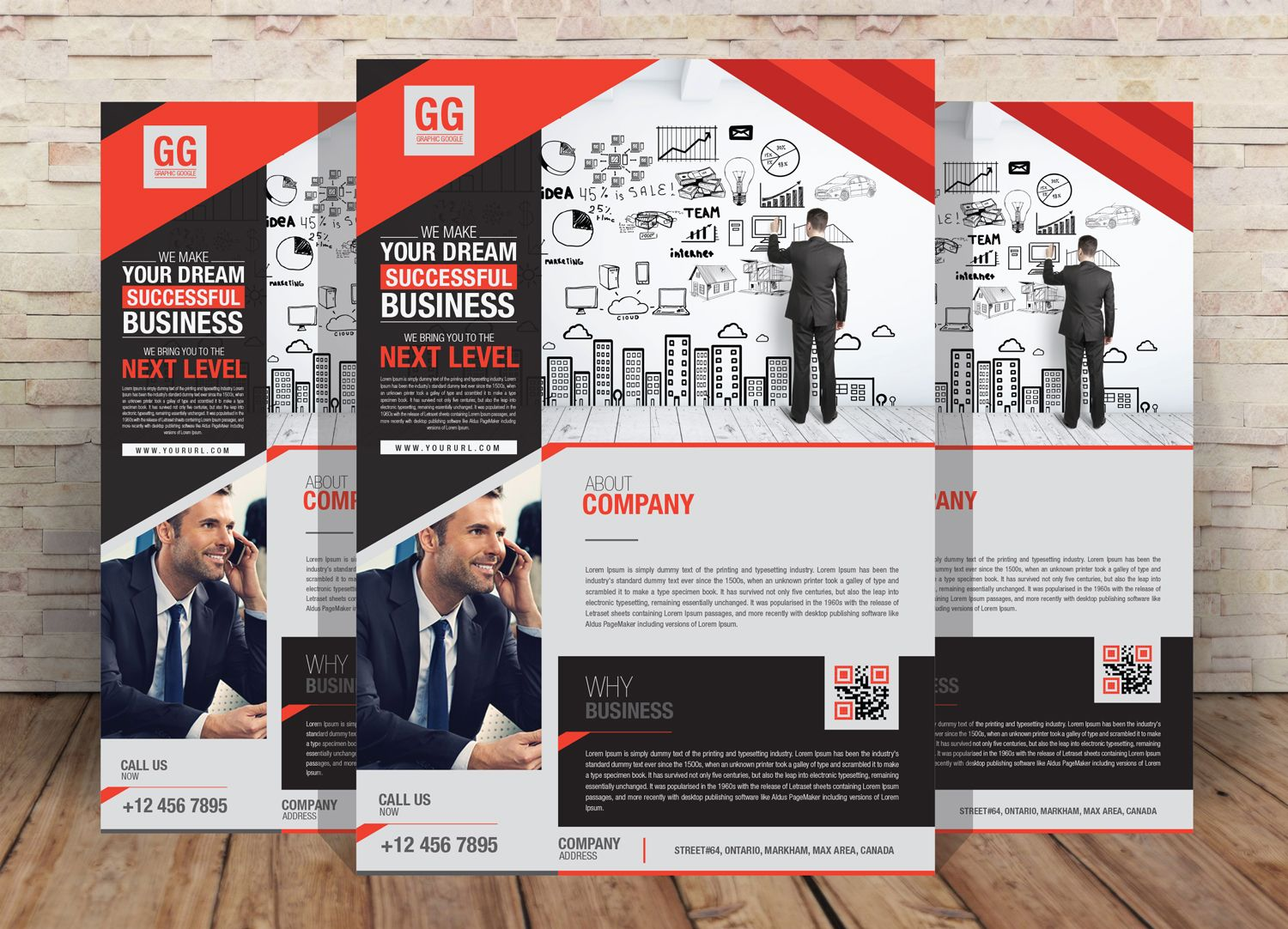 Free-Business-Flyer-Design-Template | PropNex | Pinterest | Flyer ...
