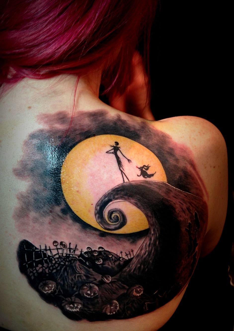 Cartoon tattoo designs on shoulder - Nightmare Before Christmas Tattoo I Would Probably Never Get A Cartoon As A Tattoo Even If I Love The Nightmare Before Christmas