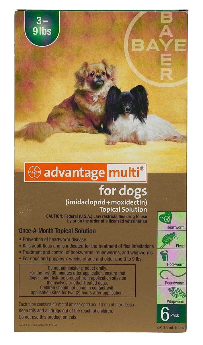 Advantage Multi For Dogs Heartworm Flea Treatment Fleas