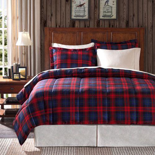 ashland bedding comforter set red plaid