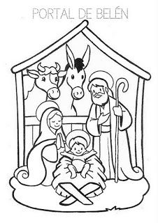 Recursos Para Educacion Infantil Fichas Para Trabajar La Navidad Pesebres Para Colorear Jesus Para Colorear Dibujos De Navidad