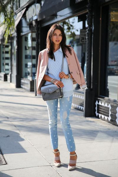 periwinkle Gap jeans - light blue Gap sweater - light pink Gap ...