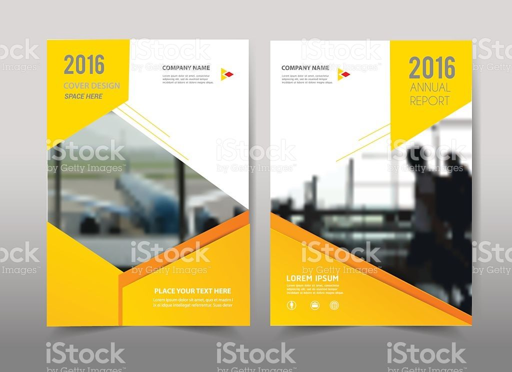 Yellow Design On Backgroundochure Template Layoutcover