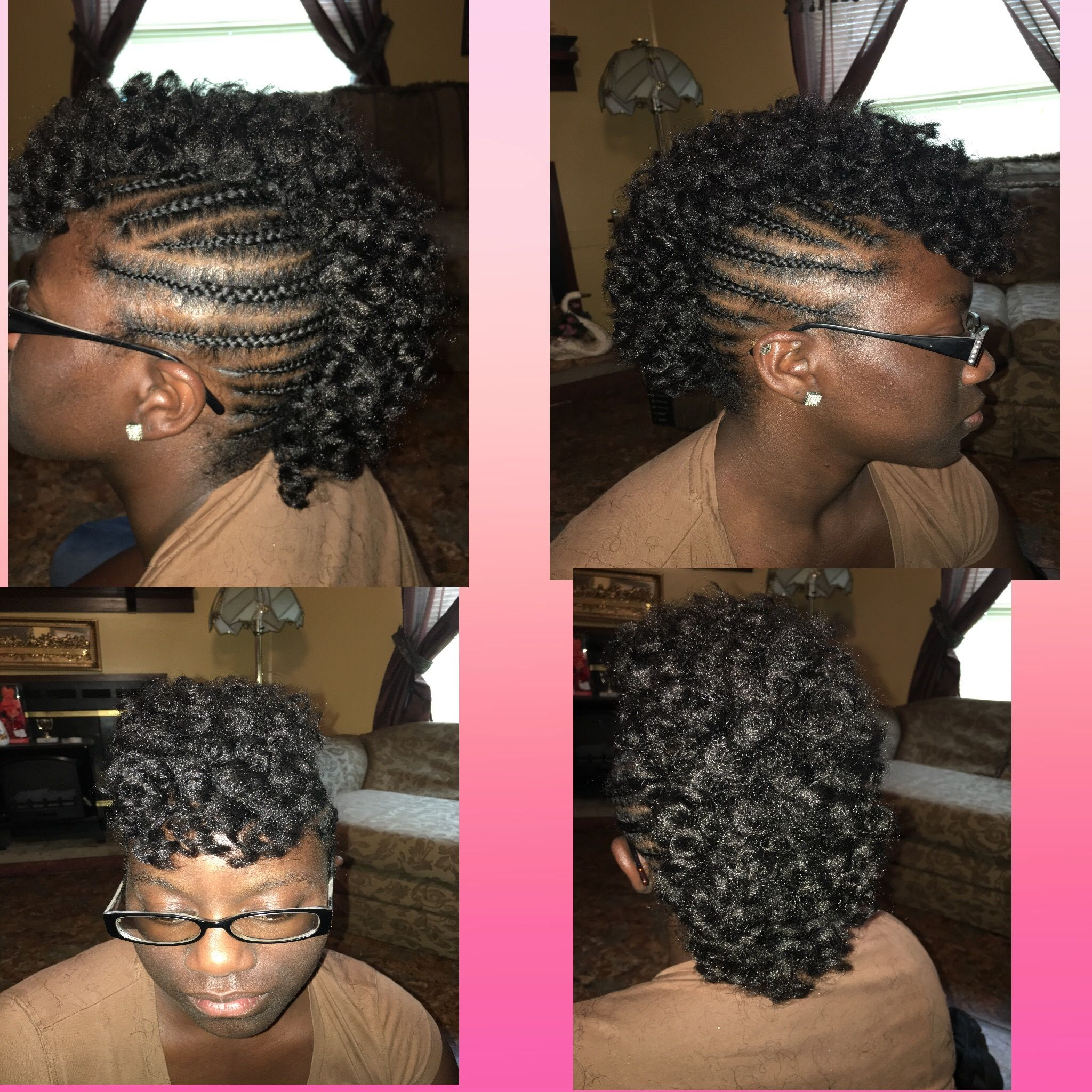 Curly crochet mohawk curly mohawk crochet braidedmohawk