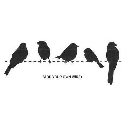 wirebirds-stencil_large.jpg?79 400×400 pixels | bedrooms | Pinterest ...