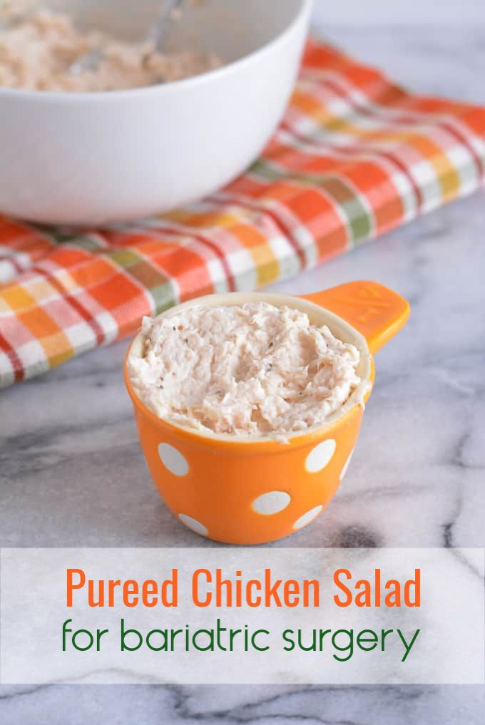 Pureed Chicken Salad #softfoodsaftersurgeryteeth