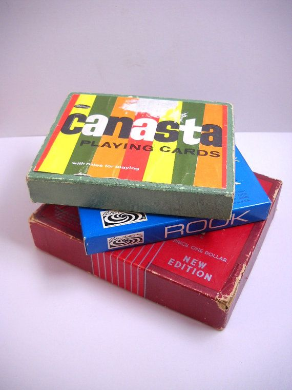 Vintage Card Game Set Playing Cards Canasta Rook Flinch Etsy Set Card Game Classic Card Games Vintage Playing Cards