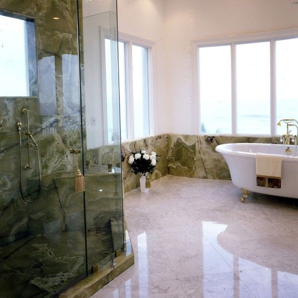Jade Green Bathroom: NATURAL STONE, Marble Of The