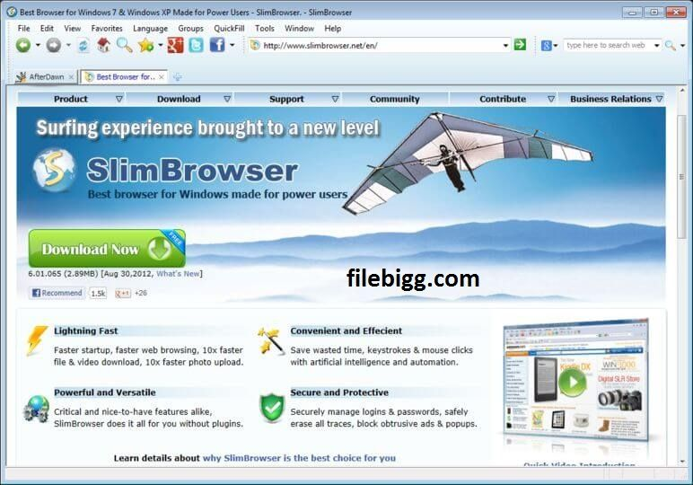 Free Download Software SlimBrowser 7.00 Build 126 - filebigg.com