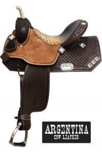 SHOWMAN BARREL SADDLE WITH BLING – Henderson's Western Store