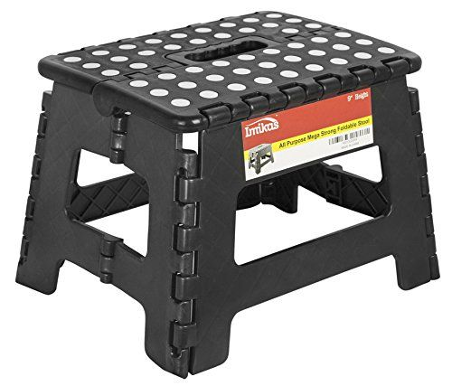 Folding Step Stool 9 Inch Height Premium Heavy Duty Foldable Stool For Kids Adults Kitchen Garden Bathroom Stepp Folding Step Stool Step Stool Foldable Stool