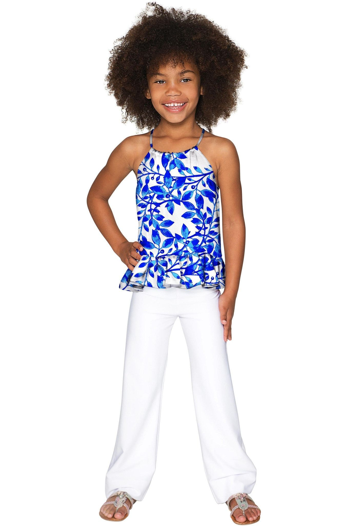 Whimsy Audrey Halter Top - Girls
