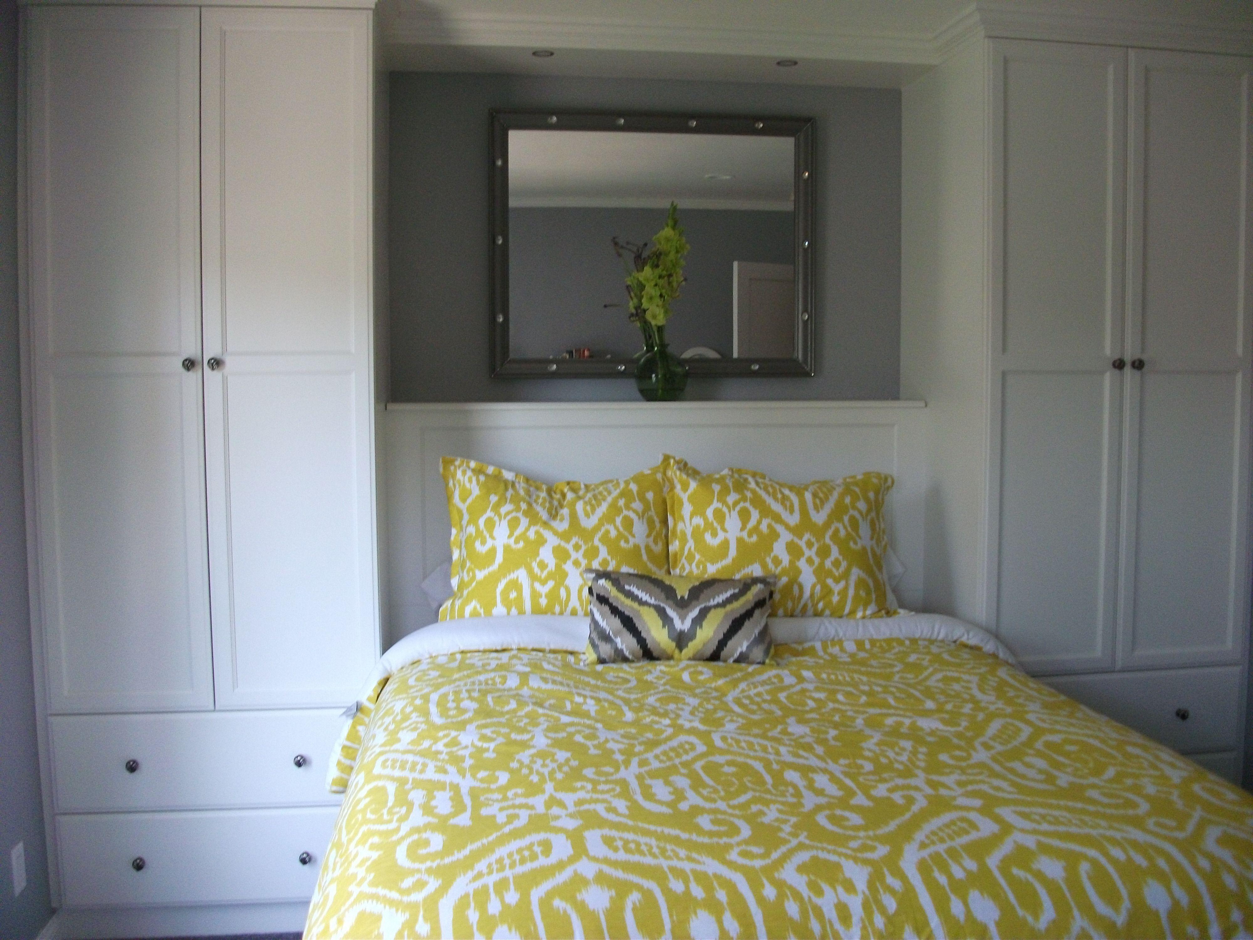Built In Headboard And Bed Surround Closet Remodel Bedroom Bedroom Decor Design Small Master Bedroom