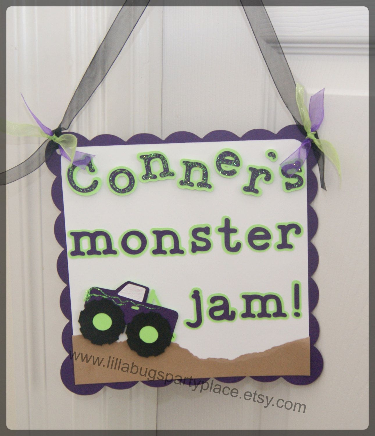 Monster Truck 4x4 Personalized Door Sign by LillabugsPartyPlace ...