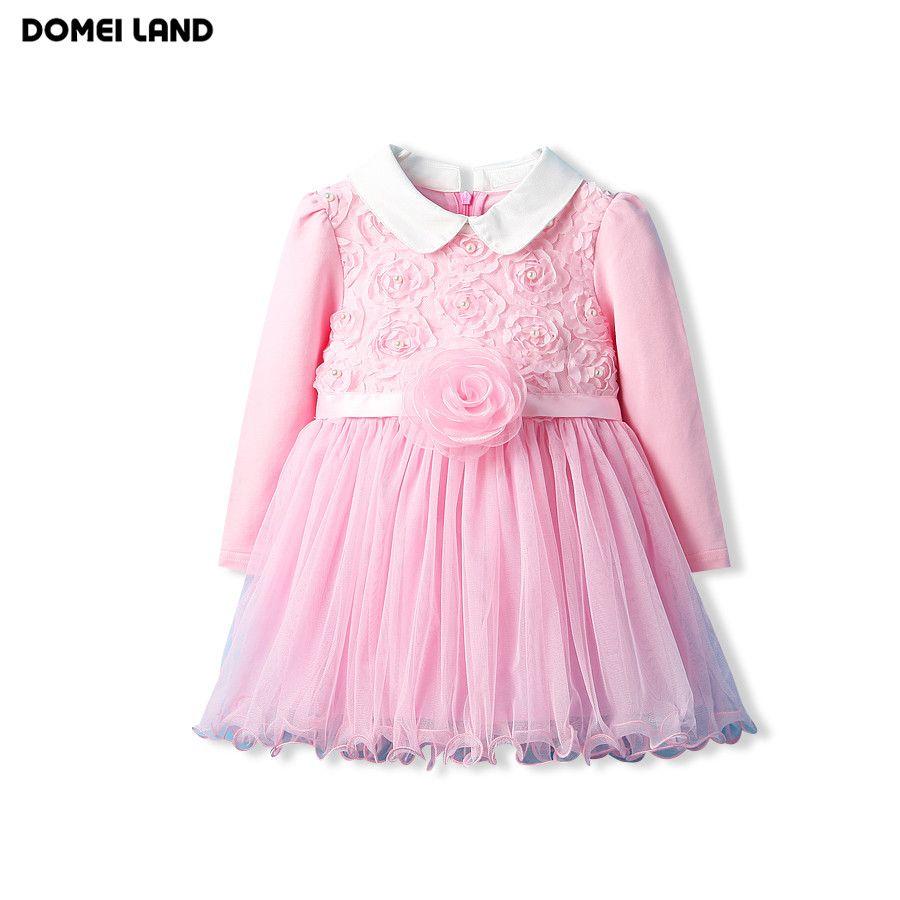 Inkach Toddler Girls Princess Dresses Football Printed Long Sleeve Ruffles Dress Outfits