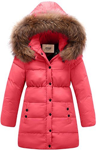 eec3feb9c54c ZOEREA Big Girls Winter Parka Coat Puffer Jacket Padded Overcoat with Fur  Hood     To view further for this item