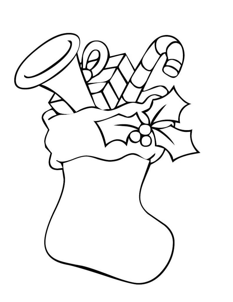 Christmas Stocking Coloring Pages Christmas Coloring Pages Free