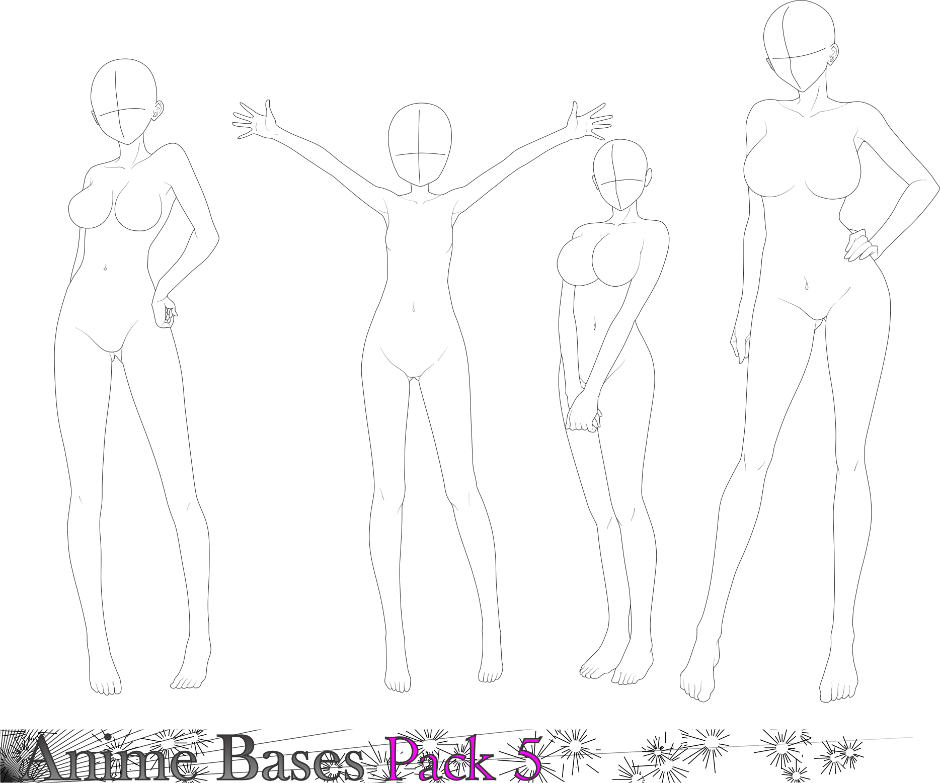 Anime Bases Pack 5 By Fvsj Anime Poses Reference Anime Base Drawing Legs