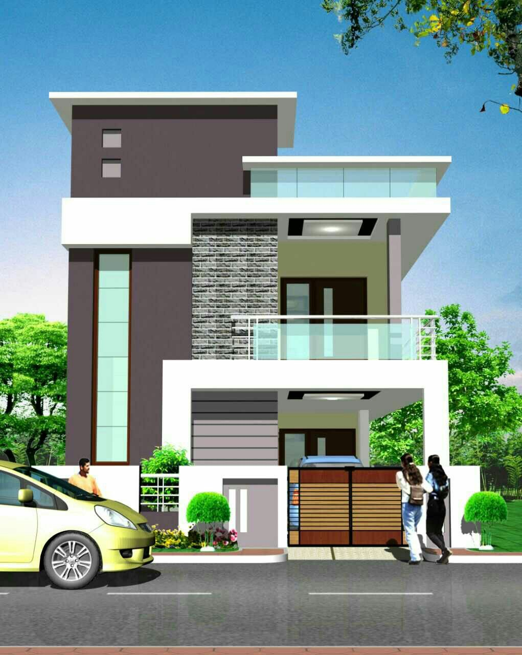 Front Design Of Narrow House Part - 39: House · Front Elevation DesignsHouse ...