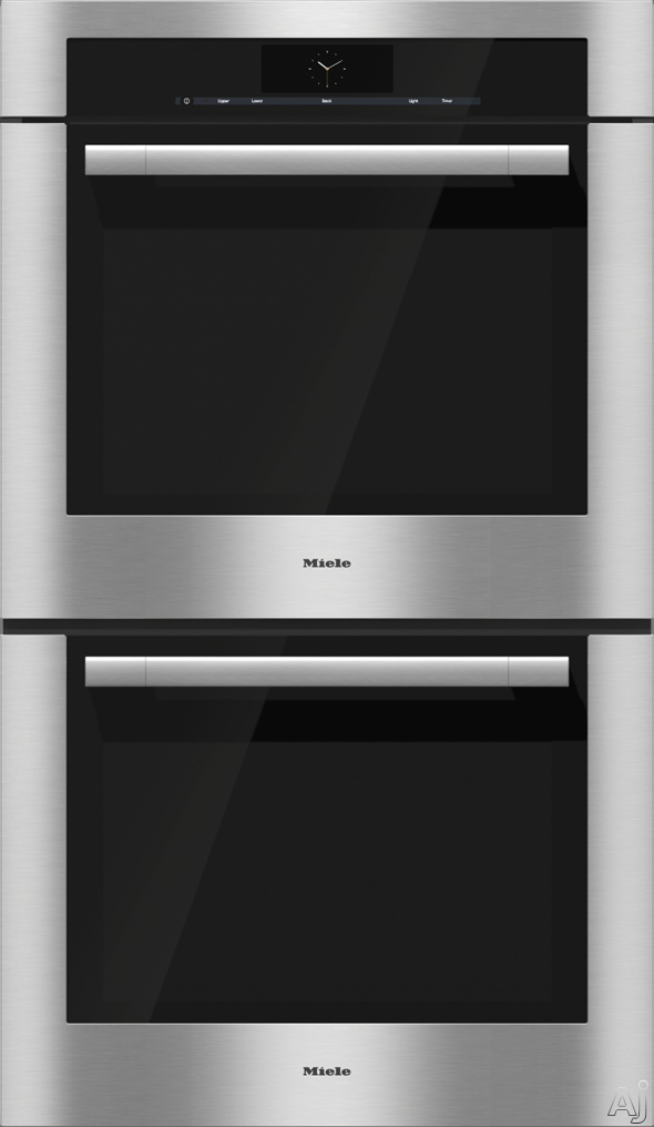 Miele H6780bp2 30 Double Electric Wall Oven With 4 6 Cu Ft Capacity Ovens M Touch Controls 19 Operating Modes Perfectclean Racks 100 Masterchef