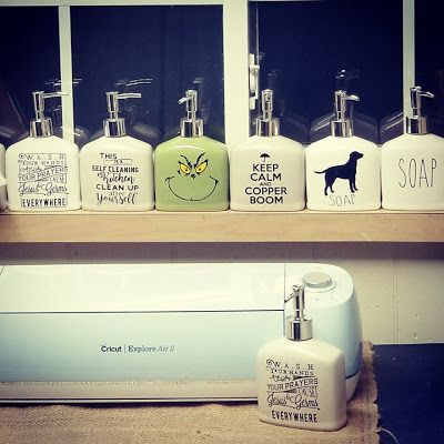 Decorating Dollar Tree Soap Dispensers With Cricut