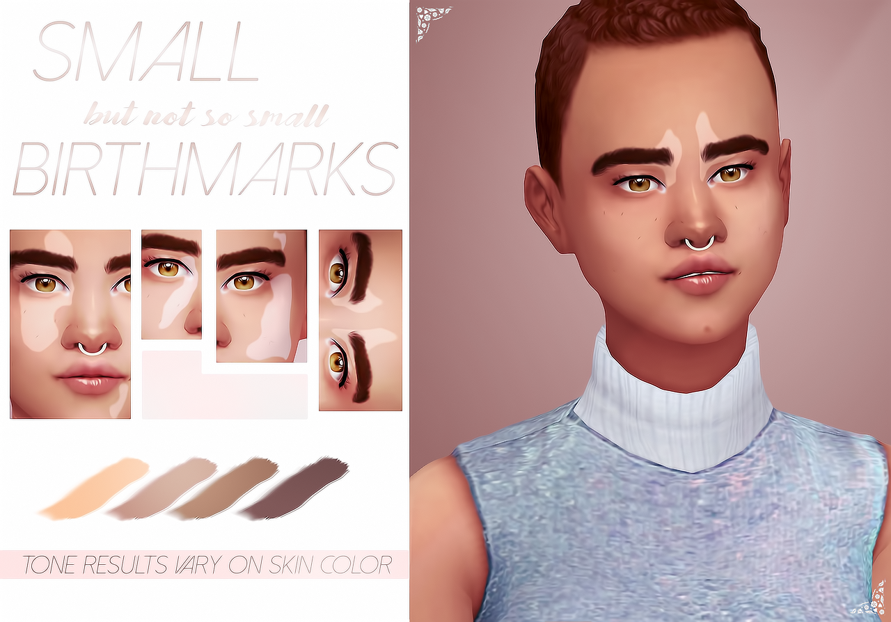 Catplnt A Lil Set Of Four Birthmarks That I Made For That One Sim Everyone Saw For Like 2 Secs They Come In 4 Tones Amp A Di Sims Sims