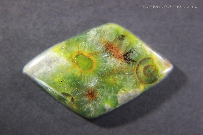 Wavellite cabochon. 11.06 carats, Arkansas USA. | Gemstones, Precious  gemstones, Rare gemstones