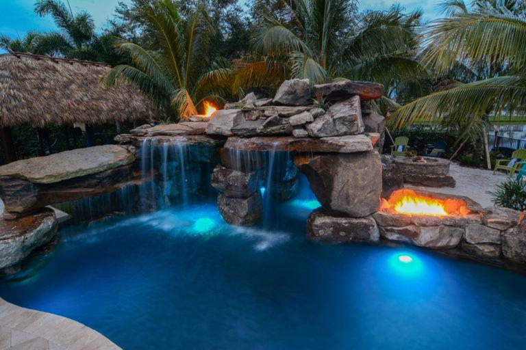 Rocks Of Love Backyard Custom Pool Resort In Wellington Florida Dream Backyard Pool Swimming Pool House Dream Pools