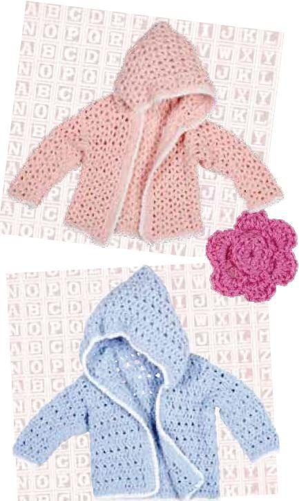 Free Patternoky Boys Girls Jacket Crochet Baby Jackets