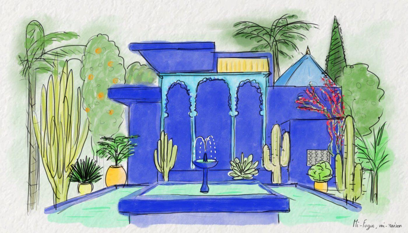 Cecile Colombo Jardin Majorelle Peinture Peinture