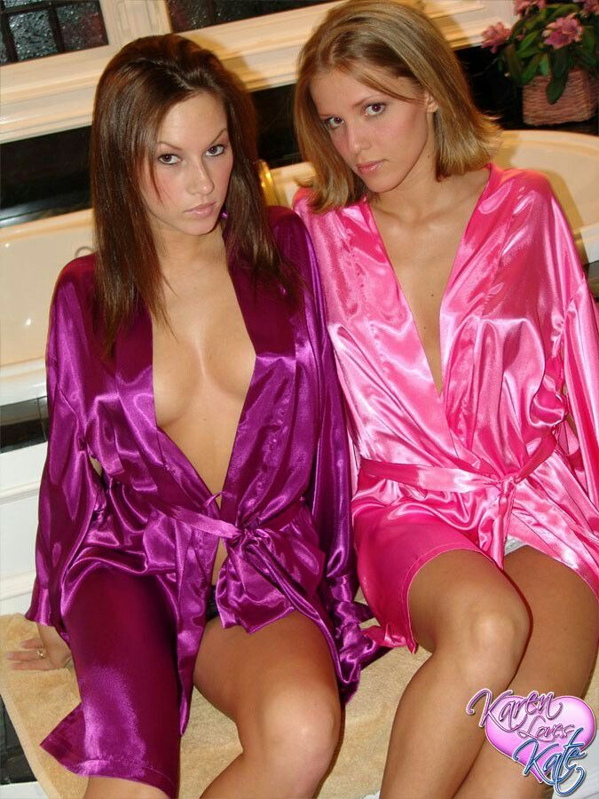 dresses satin short Lesbian in