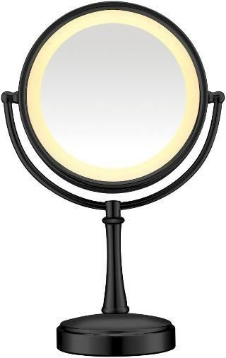 Black Touch Control Lighted Makeup Mirror Makeup Mirror With Lights