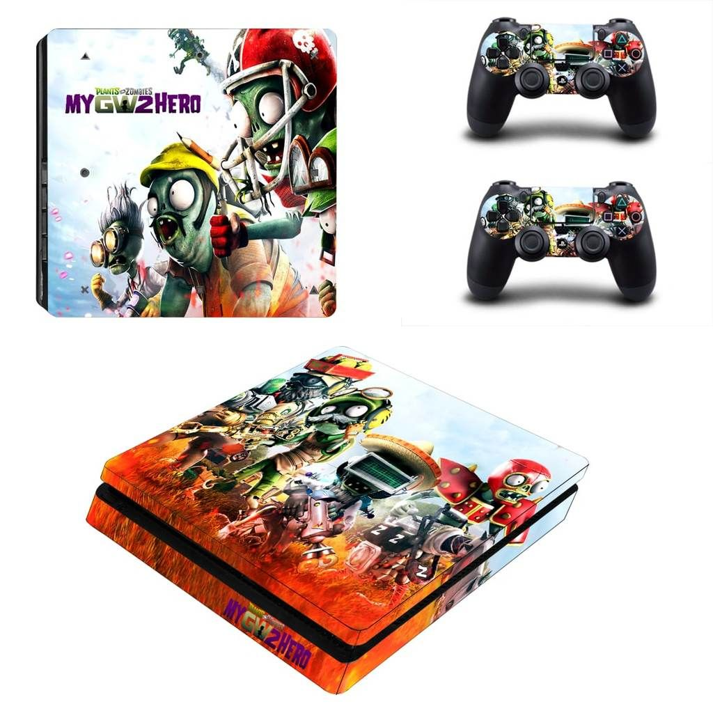 Plants Vs Zombies My GW2 Game Heroes PS4 Slim Console Skin