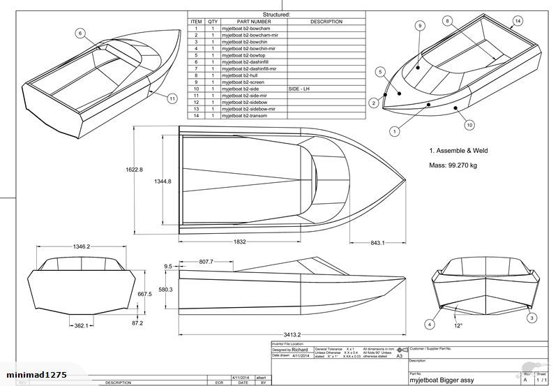 3m or 3.4m SCRIMJET jet boat plans | Trade Me | Jets Vroom Splash | Pinterest | Boat plans ...